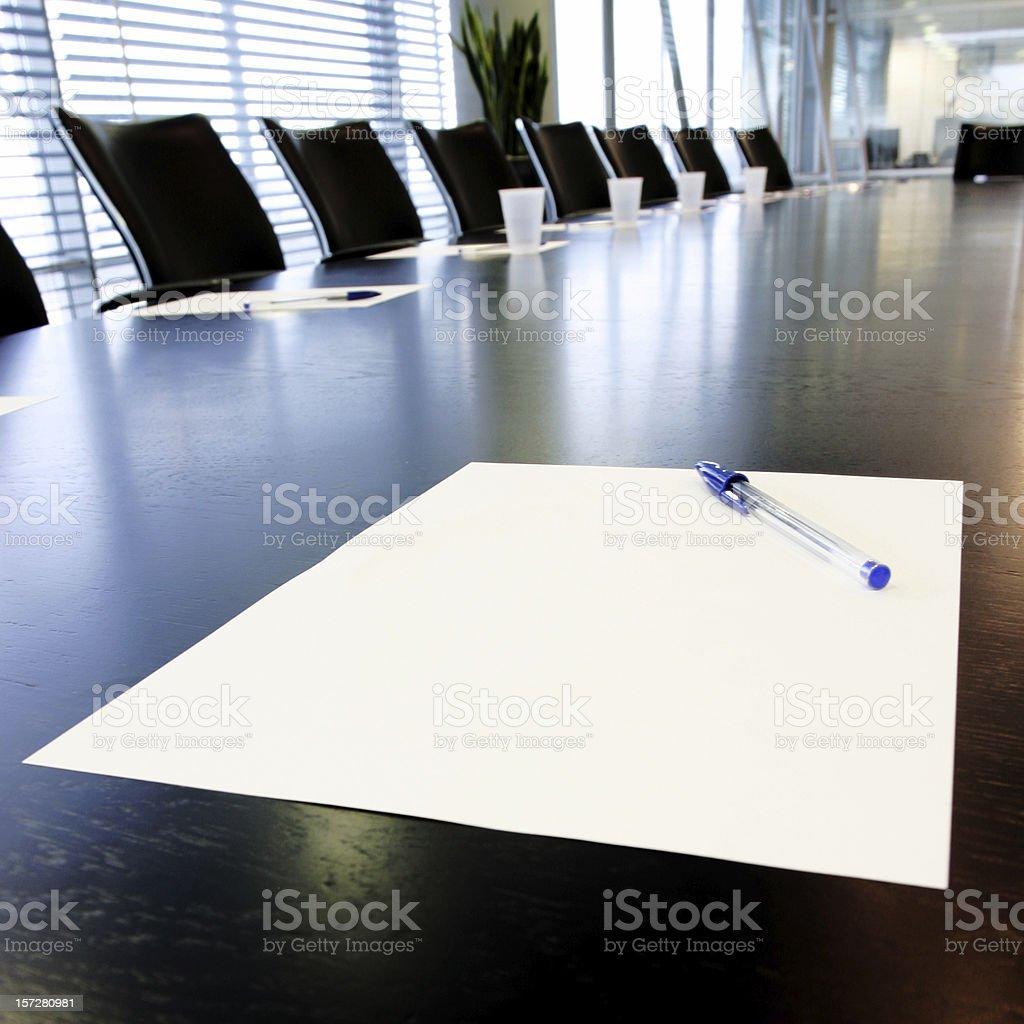 Boardroom notes royalty-free stock photo