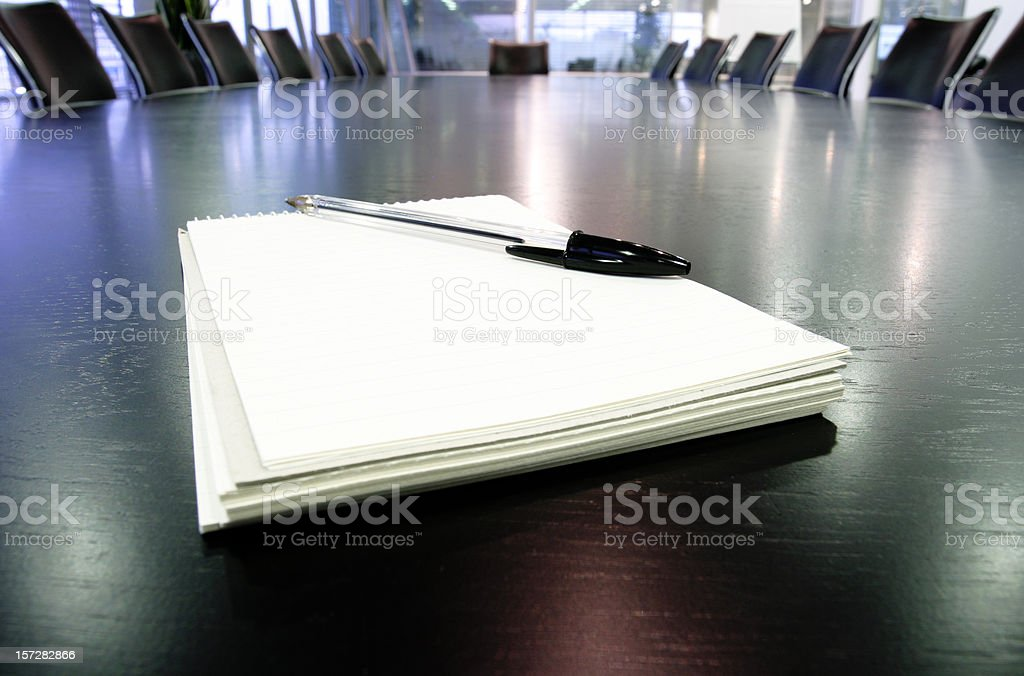 Boardroom notes royalty-free stock photo