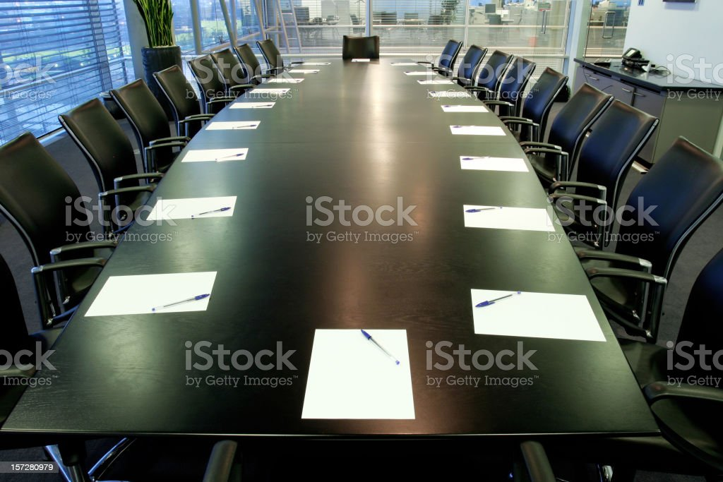 Boardroom royalty-free stock photo