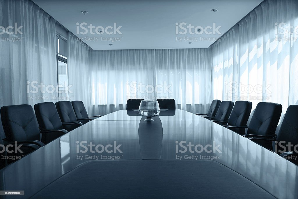 Boardroom table stock photo