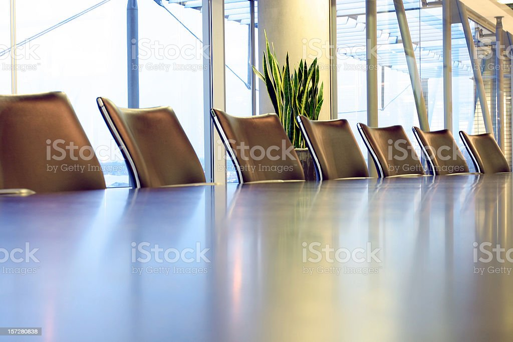 Boardroom table royalty-free stock photo
