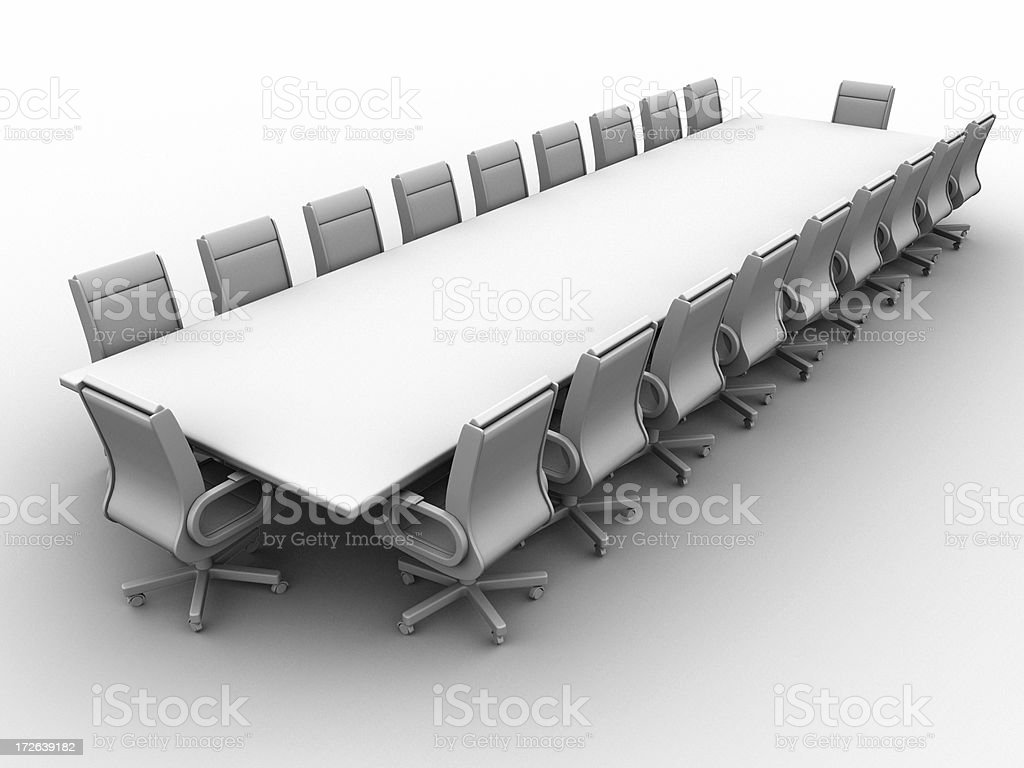 Boardroom w/clipping path 04 royalty-free stock photo