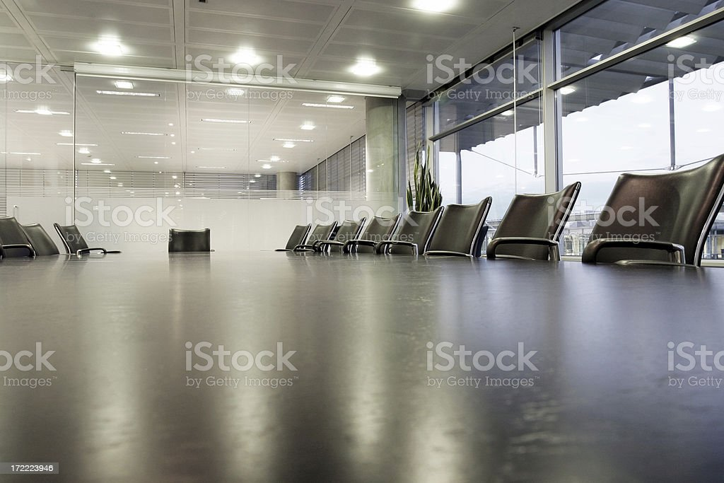 Boardroom, wide angle royalty-free stock photo