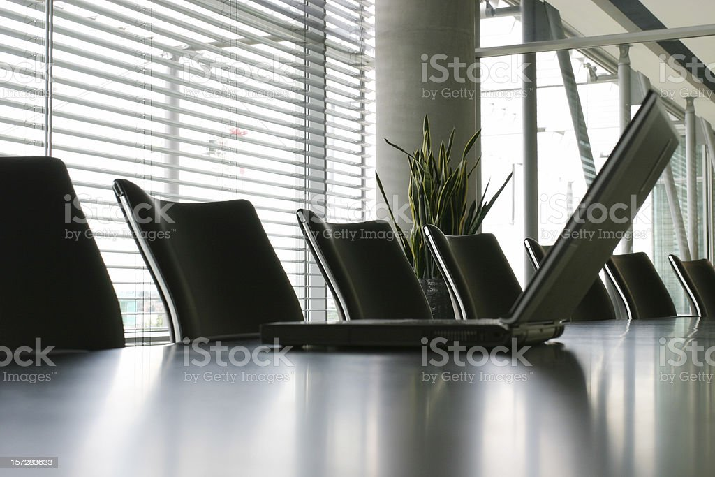 Boardroom with laptop royalty-free stock photo