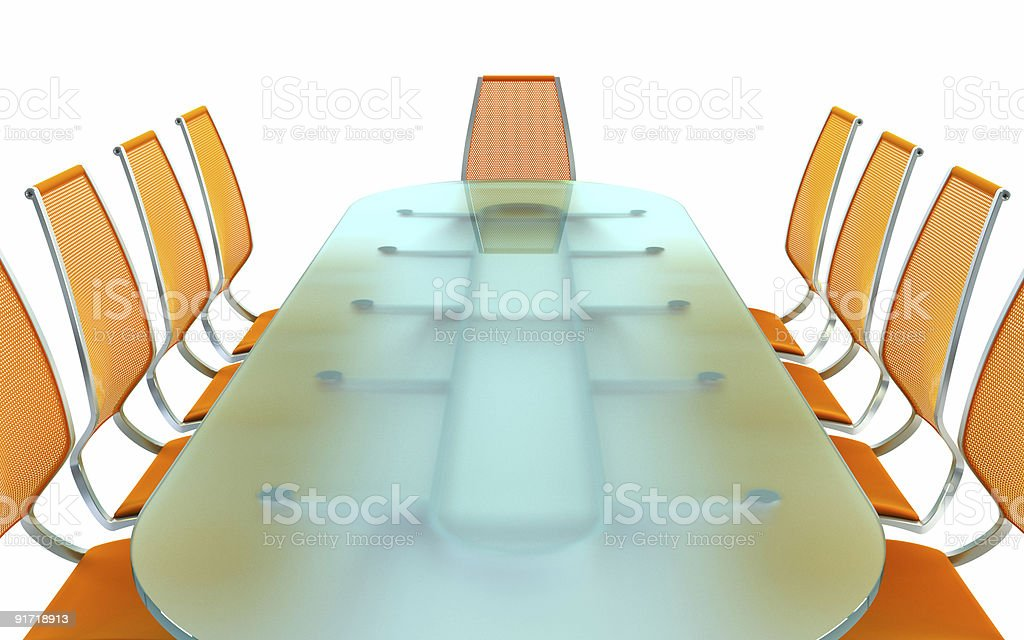 boardroom with table and chairs royalty-free stock photo