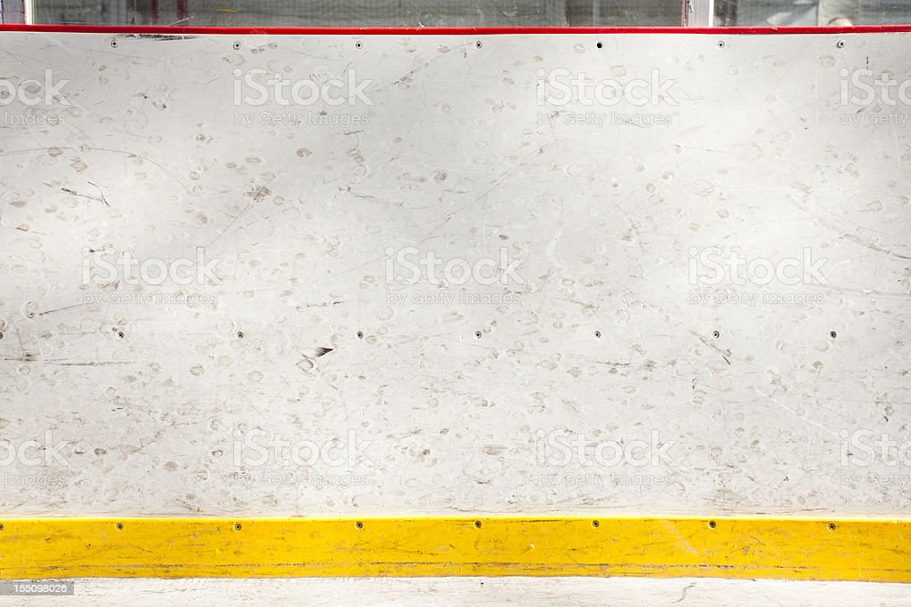 Boards at the hockey arena royalty-free stock photo