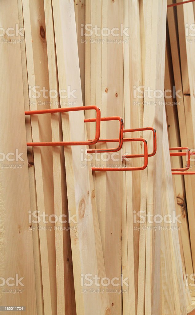 Boards at the lumber yard royalty-free stock photo