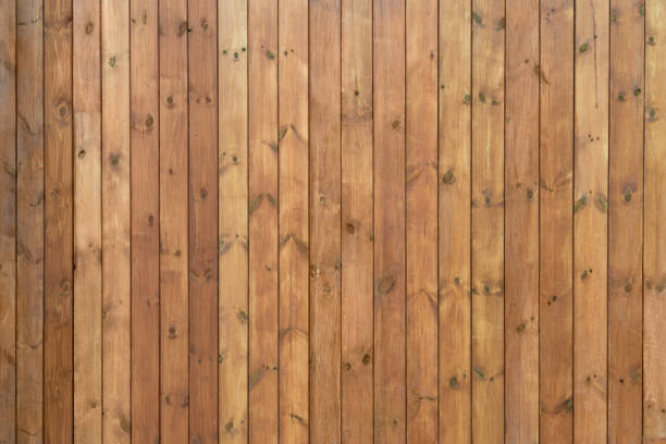 boards painted brown long - knotted wood stock pictures, royalty-free photos & images