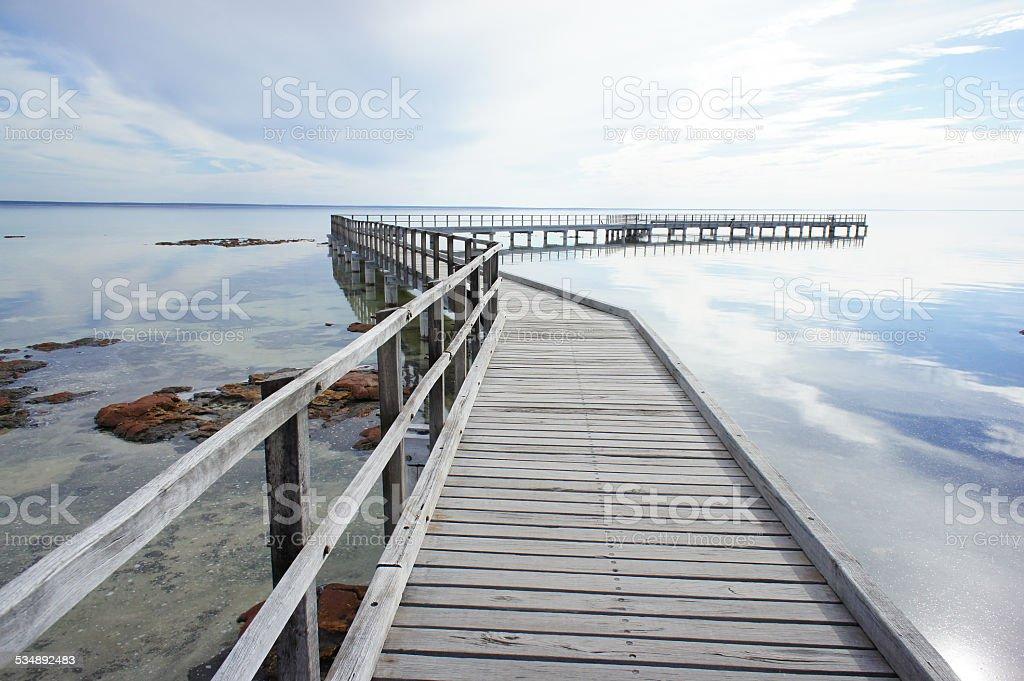 boardwalk at Hamelin Pool, Shark Bay stock photo