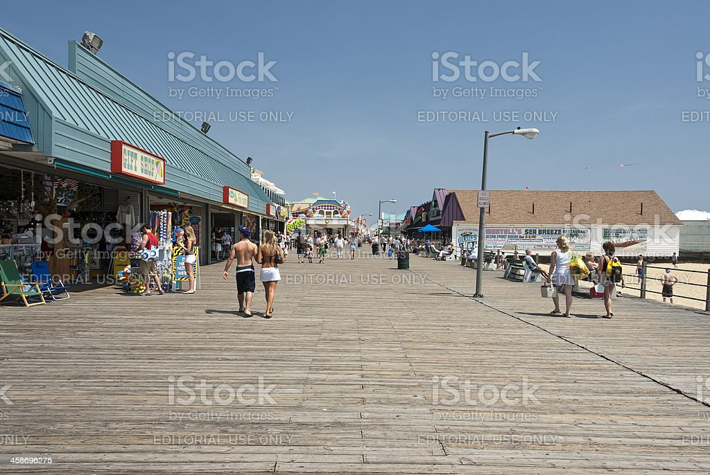 Boardwalk at the Jersey Shore stock photo