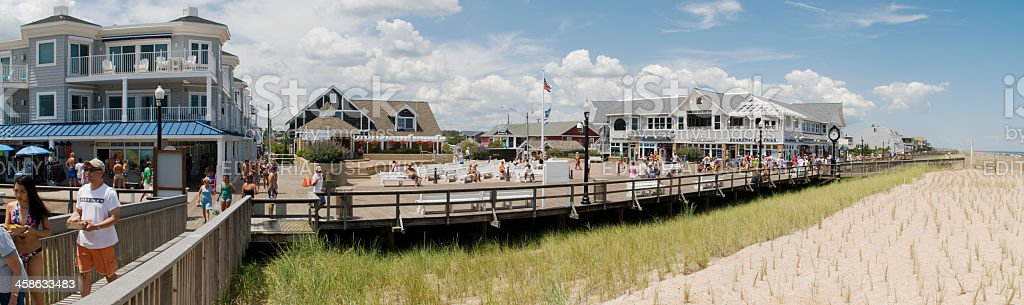 Boardwalk - Bethany Beach Delaware, USA stock photo