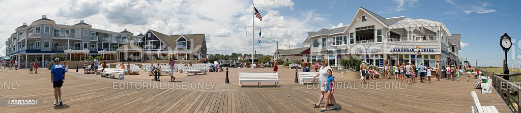 Boardwalk - Bethany Beach, Delaware, USA stock photo