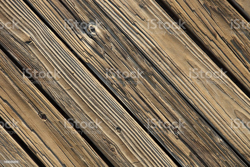 Boardwalk boards background,Shot looking straight down at boards diagonal royalty-free stock photo