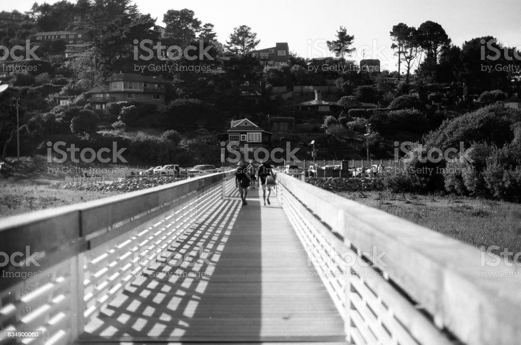 Boardwalk Bridge Muir Beach stock photo
