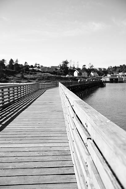 Boardwalk BW stock photo