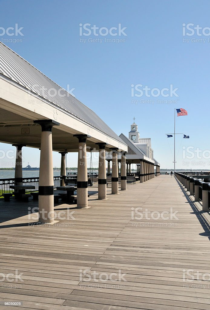 Boardwalk, Charleston, South Carolina royalty-free stock photo