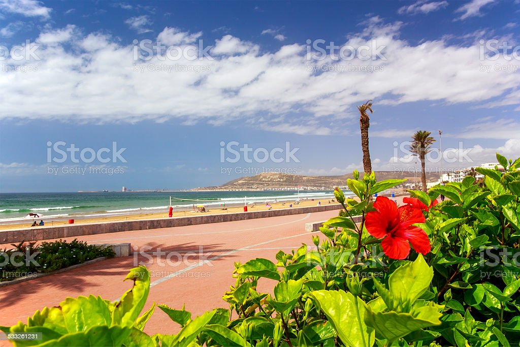 Boardwalk in Agadir, Morocco foto