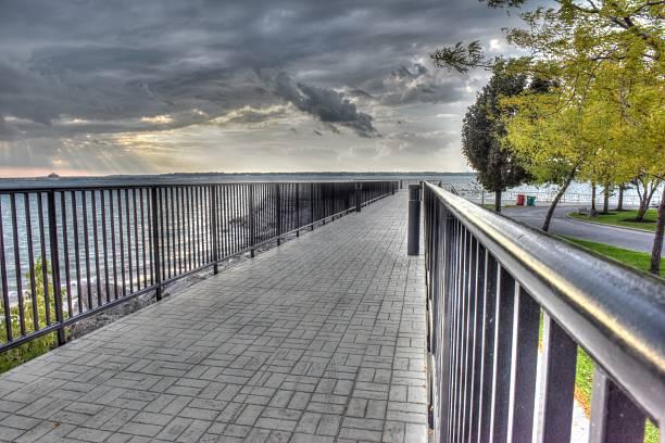 Boardwalk in Buffalo New York stock photo