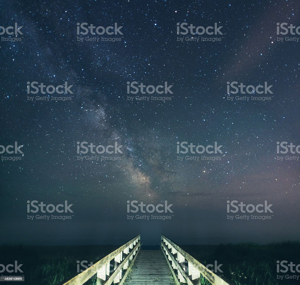 Boardwalk in the Stars royalty-free stock photo