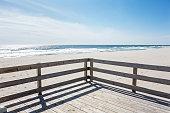 Boardwalk beside the beach
