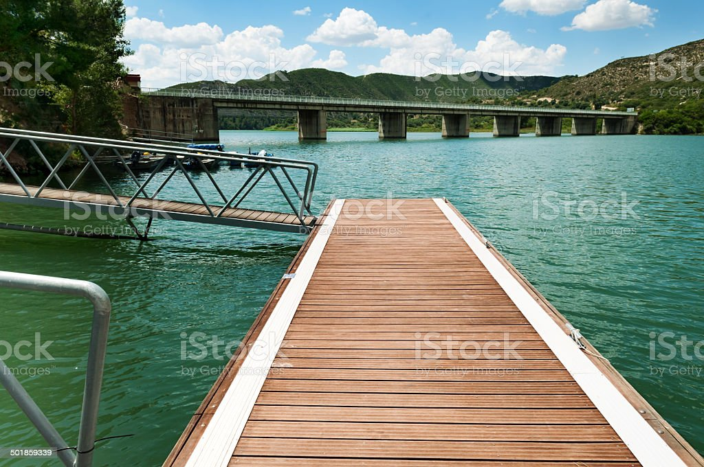 Boardwalk pier and bridge royalty-free stock photo