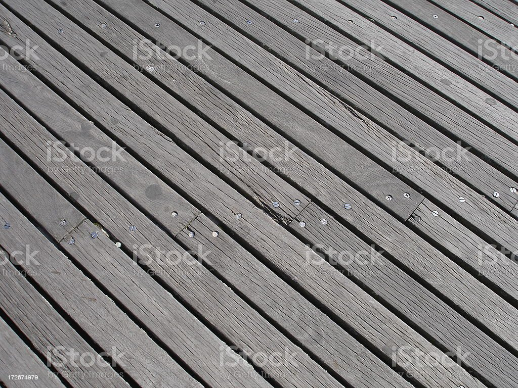 Boardwalk Planks royalty-free stock photo