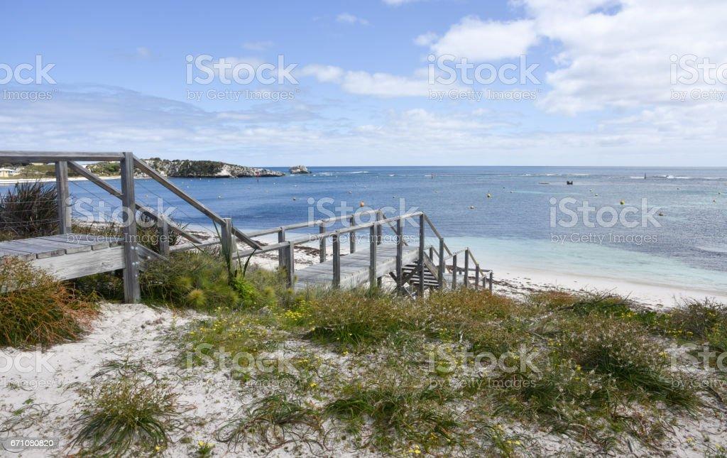 Boardwalk to Calm Seas stock photo