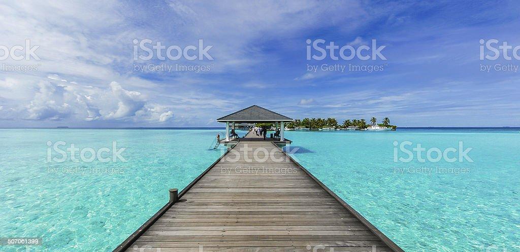 Boardwalk to paradise stock photo