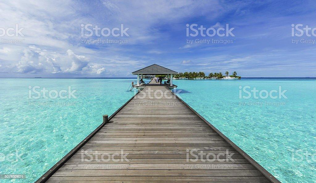 Boardwalk zum Paradies – Foto