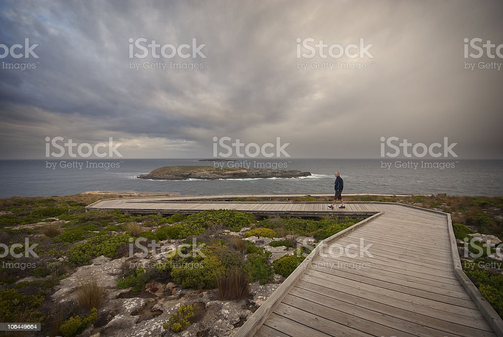 Boardwalk to the ocean royalty-free stock photo