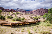 Boardwalks and hiking trails in the Red Rock Canyon National Conservation Area