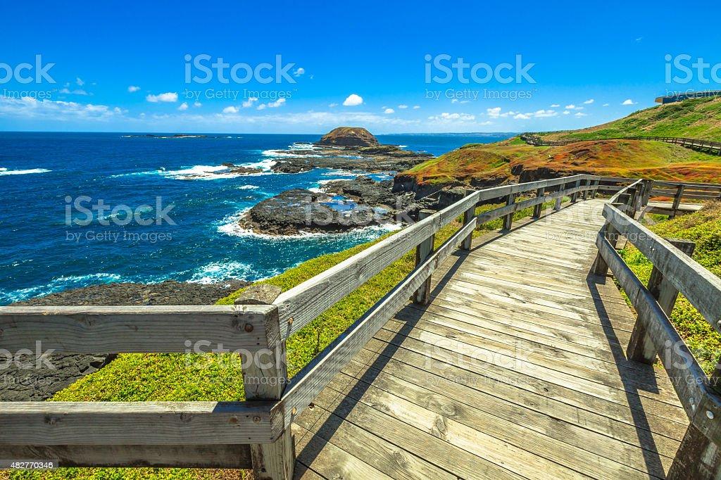 Boardwalks The Nobbies stock photo
