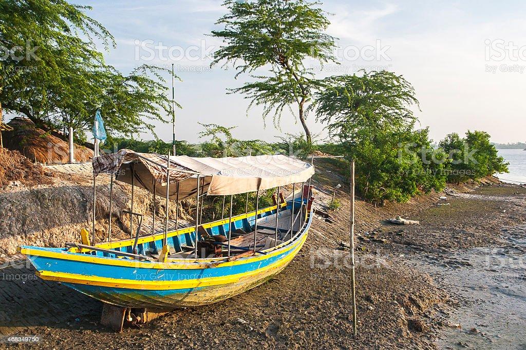 boat aground royalty-free stock photo