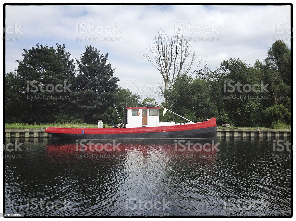 Boat along the canal royalty-free stock photo