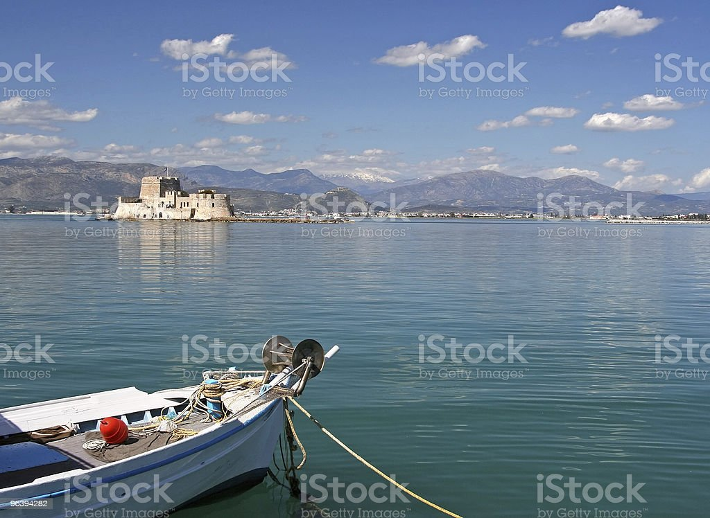 Boat and Castle Island - Royalty-free Ancient Stock Photo