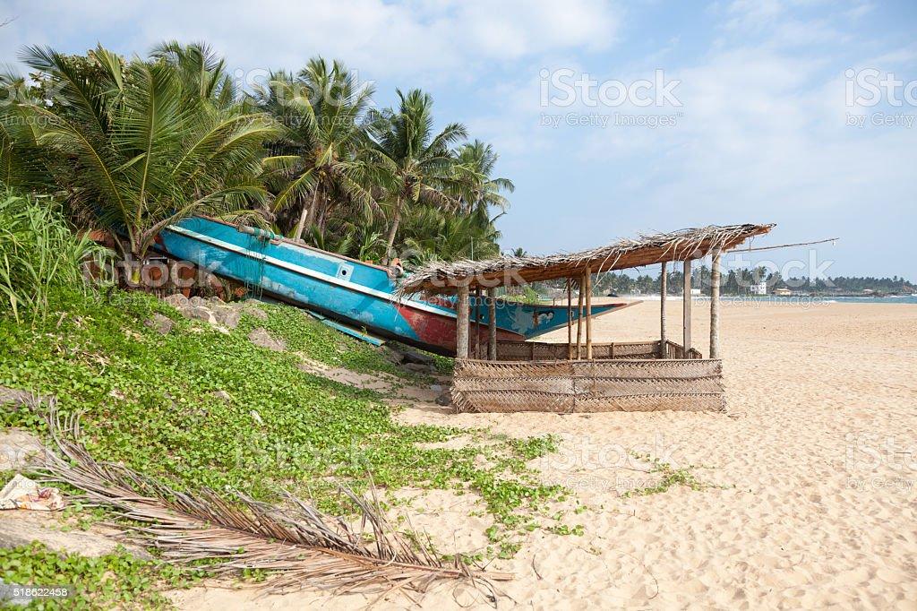 Boot und Hütte – Foto