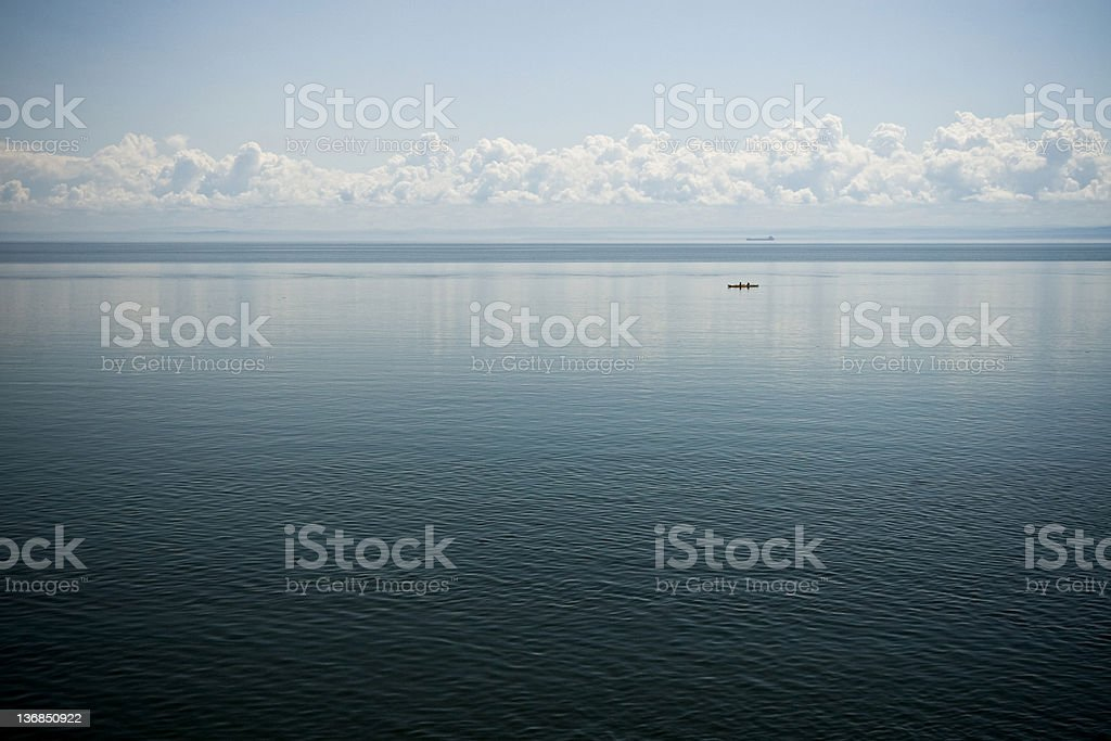 Boat and kayak royalty-free stock photo