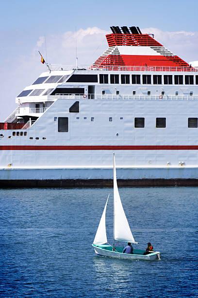 boat and ship sailing stock photo