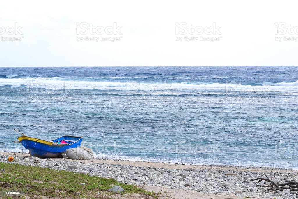 Boat and the sea. stock photo