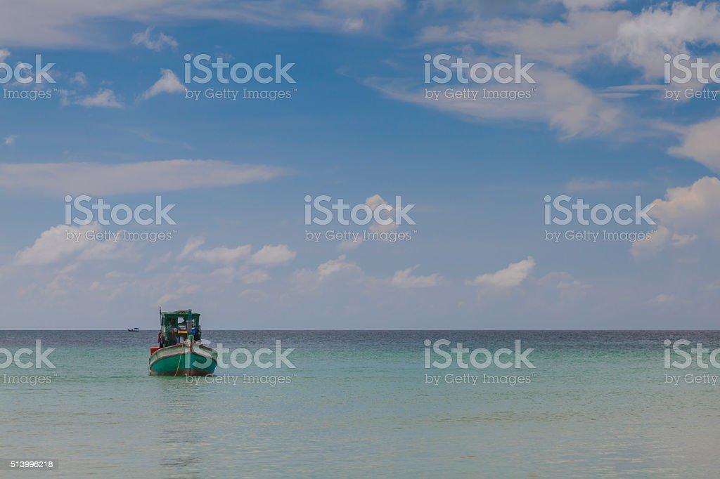 Boat at beah stock photo
