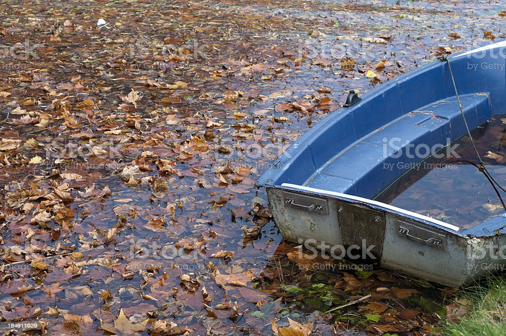Boat at canal of Edam, Netherlands stock photo