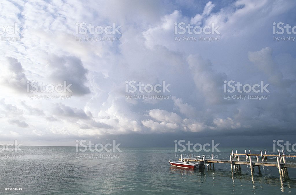Boat at Dock stock photo