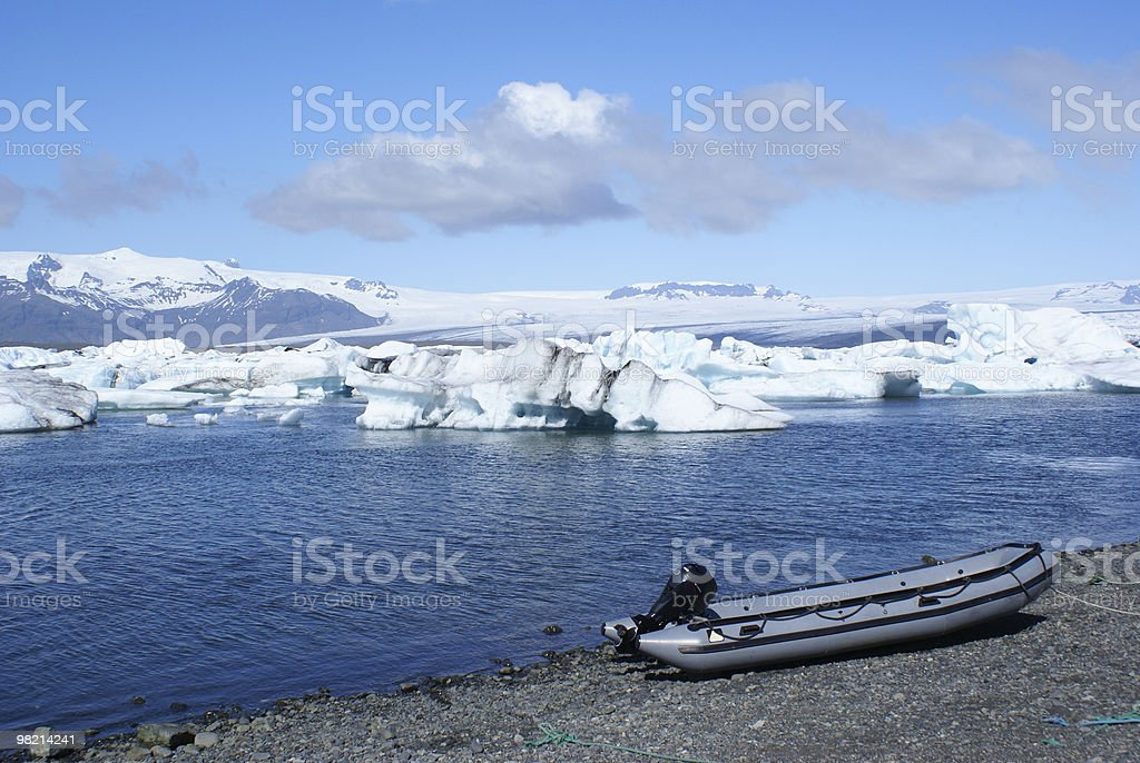 Boat at Jokulsarlon royalty-free stock photo