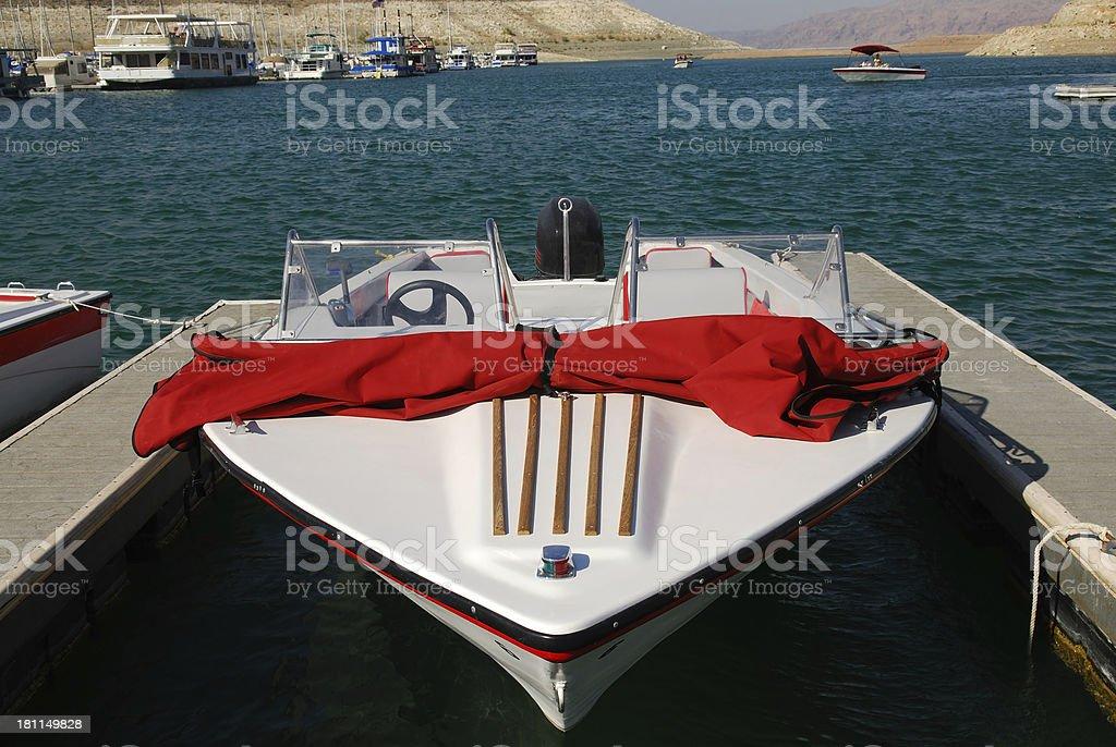 Boat at Marina Dock royalty-free stock photo