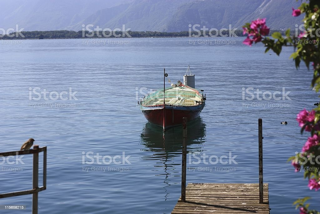 Boat at Montreux, Switzerland royalty-free stock photo