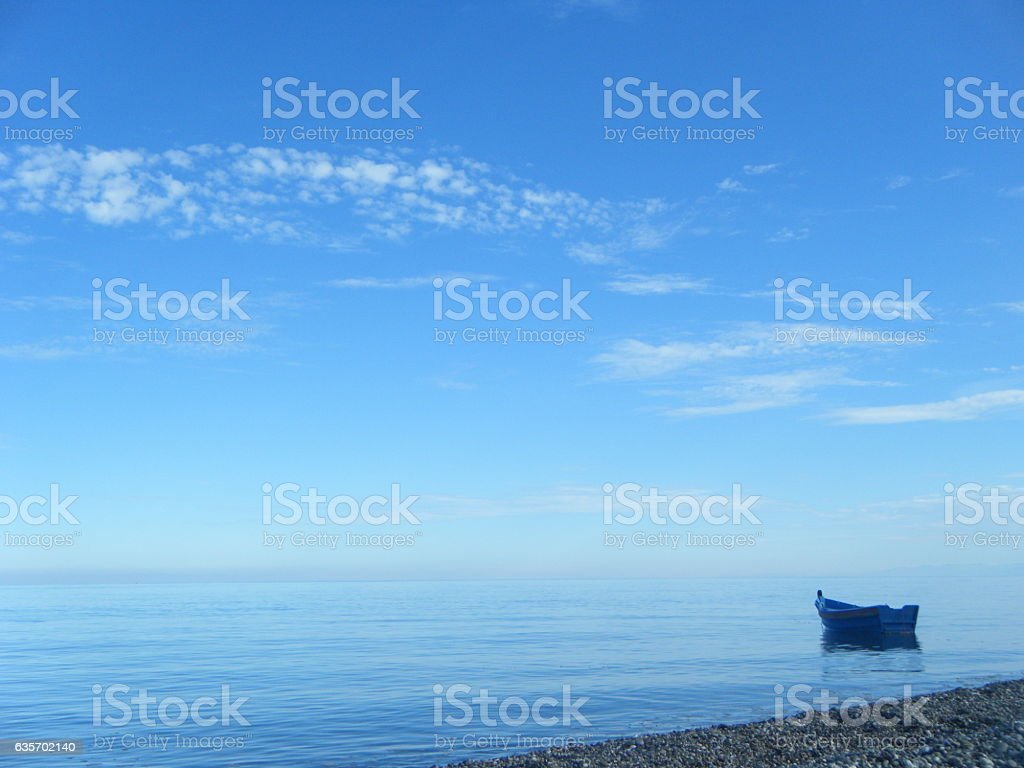 Barca en el mar royalty-free stock photo