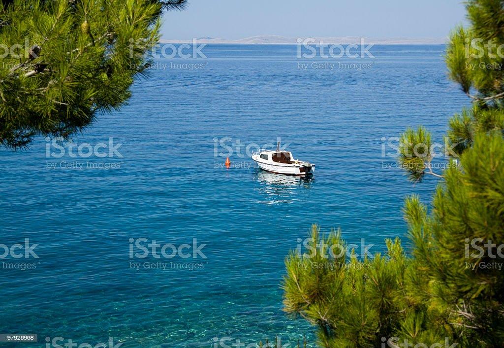 Boat at sea royalty-free stock photo
