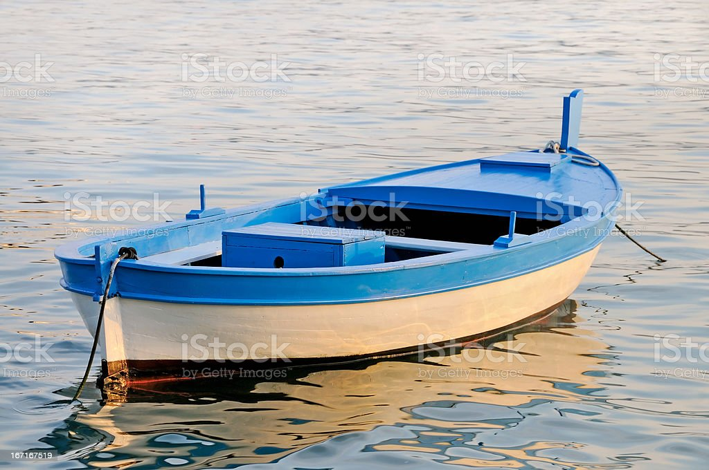 Boat at Sunset royalty-free stock photo