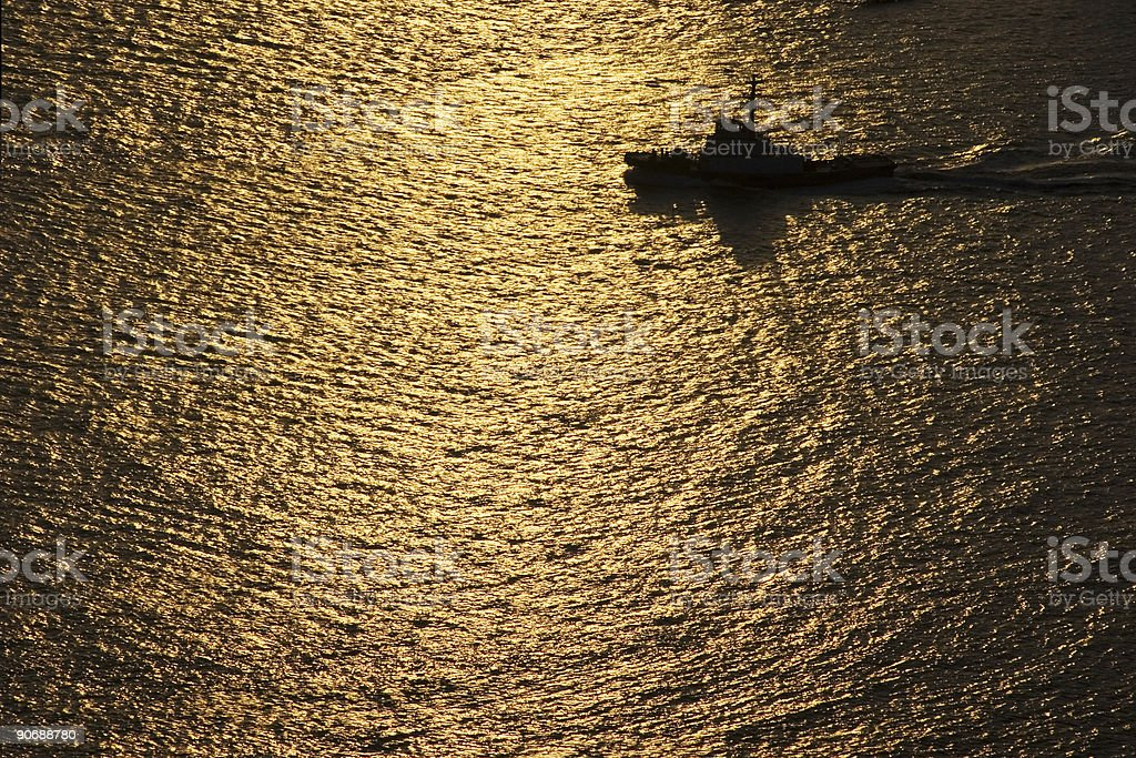 Boat at Sunset royalty-free stock photo