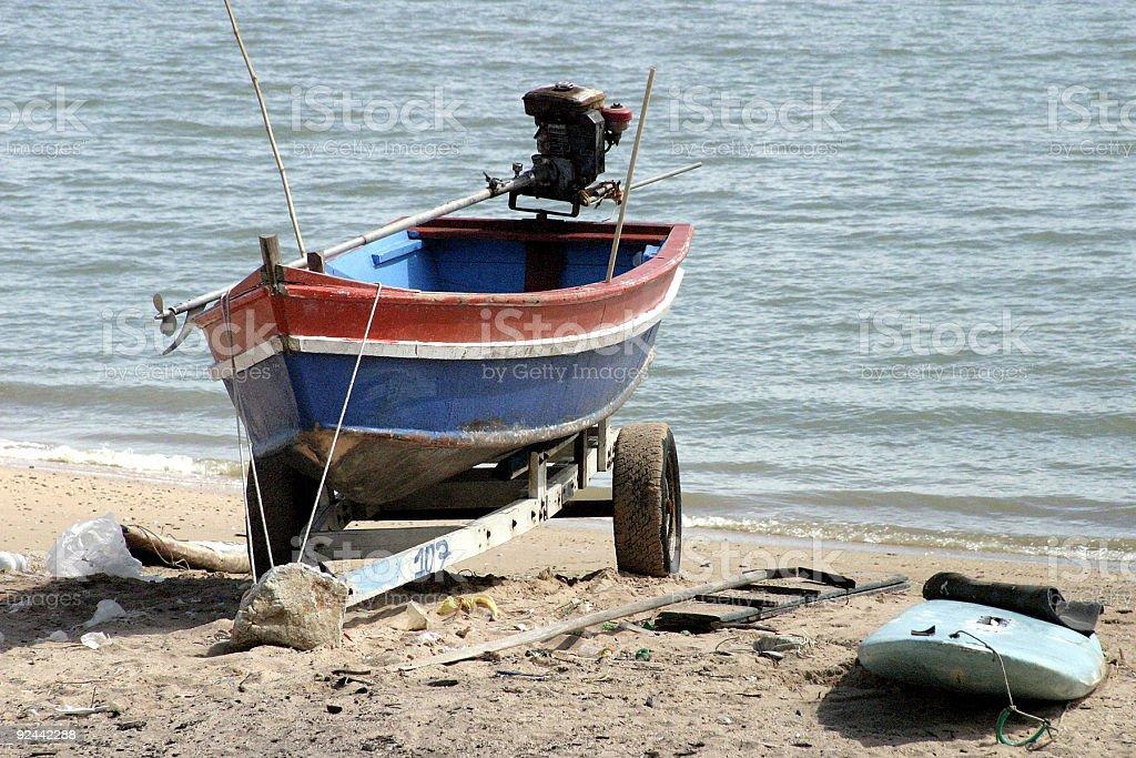 boat at the beach royalty-free stock photo